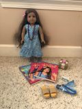 American Girl Doll, Kanani with accessories shown.