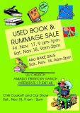 Nov 17 + 18 Rummage + Book Sale