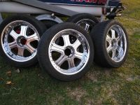 """Chevy 22"""" Falken Wheels . And falken tires. Wheels and tires in great condition.. trade for Chevy stock wheels or $400 cash no center cap"""