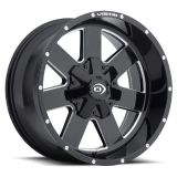 """Purchase 8 Lug 8x170 18"""" Inch Ford F250 F350 Wheels Black n Milled Set of 4 Rims motorcycle in Saint Paul, Minnesota, United States, for US $635.00"""
