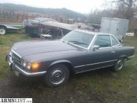 For Trade: Looking to trade for 50BMG or?? 1974 Mercedes 450SL Hard Top Convertable W/V8 Runs great