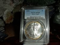 Exceptional and Beautiful 1995-P American Silver Eagle MS 68 PCGS Rainbow Tone on Edges Both Sides
