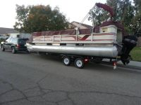 1999 Crest 22 pontoon boat 90hp mercury