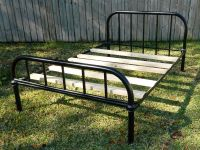 Antique Iron Full Size Bed w/mattresses