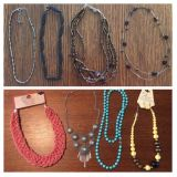 8 necklaces and one pair of earrings