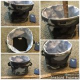 Thirty One Camo bin with handles in GUC $2.00.