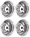 """Find TRAILER 19.5"""" 10 LUG STAINLESS STEEL WHEEL SIMULATOR WHEEL COVER HUBCAP LINERS motorcycle in Almo, Kentucky, United States, for US $484.95"""