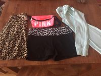 Victoria Secret PINK Size S/P Skirt, Yoga Shorts, Belly Bag and Thermal Long Sleeve Shirt
