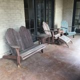 Outdoor Furniture. Sofa, 2 Side Tables, Chair & Ottoman, Rocker. Patio Furniture