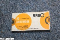 For Sale: VERY RARE VINTAGE SAKO 9mm LUGER AMMO FULL BOX
