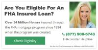 STOP RENTING FHA Home Loans Require Low Money Down