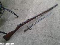 For Sale: SUPER CLEAN FRENCH CHASSEPOT M1866/74 MILITARY RIFLE W/ SABER BAYONET FRM AFG OEF 2012