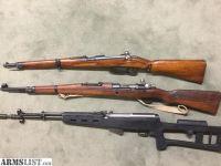 For Sale: Surplus rifles:SKS, Steyr, Mauser