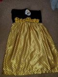 Pittsburgh Steelers strapless dress