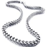 ***REDUCED***BRAND NEW***Men's 6mm Wide Stainless Steel Necklace Curb Chain Link Silver 23 inch***
