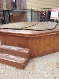 Hot Tub and Frame with working Pump and Blower Motor (Aq Springs)