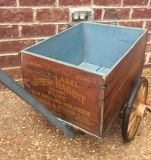 Antique Wood Shipping Crate/Cart