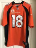 Peyton Manning, Denver Broncos, on field football jersey, captain patch, Large, worn once.