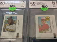 Cards: Baseball Decals (Graded Mint 10)