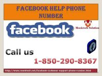 Will Facebook Help Number 1-850-290-8367 service turn the tables for me?