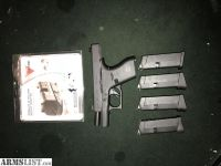 For Sale: New price !!!! Glock 42. Extra clips and Trijicon night sights new low price