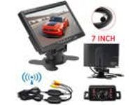"7"" TFT LCD Monitor Truck Bus Wireless Backup Camera Kit IR"