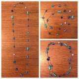 "Lia Sophia 19"" necklace silver with shades of blue"