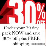 30 day pack SALE!!!