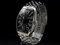 f / s pre-owned men's franck muller casablanca 5850 ss / ss black dial