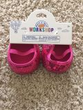 Build-A-Bear pink sequin shoes - NEW with tags