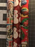 3 rolls of wrapping paper