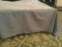 King size grey bed skirt