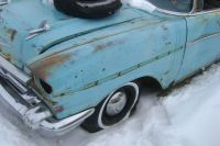 Buy 1957 57 Chevy LEFT FRONT FENDER 210 150 Bel Air motorcycle in Great Bend, Kansas, US, for US $200.00