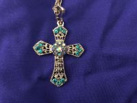 Beautiful 1-1/2 x2 Stylish Cross 26 Silver Tone Chain. Lobster Claw Clasp. New. Perfect Gift!