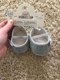 Build-A-Bear silver sparkle flat - NEW with tags