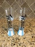 Set of UNC Hand-painted glassware (New)