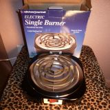 Electric Single Burner by Kitchen Gourmet