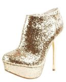 gold heels size 9