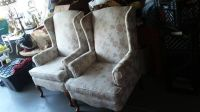 Vintage - 2 matching wing back chairs