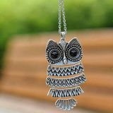 Owl Necklace and pendant 23 inches long necklace, 2 inches long pendant- NEW!