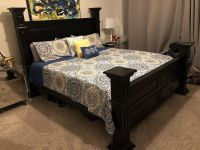 King or Queen sized Bed Frame and Headboard