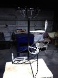 Wrought iron spiral steps plant stand