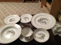 Kent-China-Silver-Pine-12-6 Place Settings With Serving Pieces