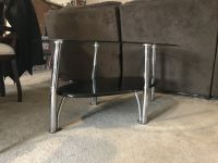 Glass coffee table with 2 matching side tables