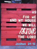 Pallet with Scripture