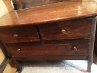 Antique 3 Drawer Dresser w/ Mirror