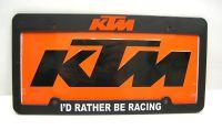 Sell KTM450 Orange License Plate and Frame KTM 500 300 450 Truck Van Trailer MX GNCC motorcycle in Duncansville, Pennsylvania, US, for US $18.99