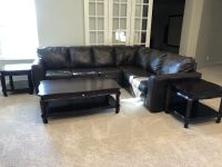 Sectional sofa, coffee table and 2 end tables