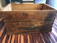 Large old wood crate