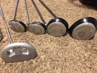 John Daly Gold golf club set with bag